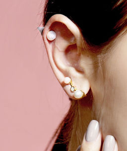 Gold Philosophy: Blue Lace Cupola - Pearl Earrings | Jewelry,Jewelry > Earrings -  Hiphunters Shop