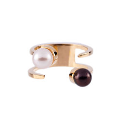 Gold Philosophy: Two - Tone Pearl Twist Ring | Jewelry,Jewelry > Rings -  Hiphunters Shop
