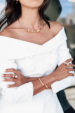 Gold Philosophy: Brier Pearl Collar | Jewelry,Jewelry > Necklaces -  Hiphunters Shop