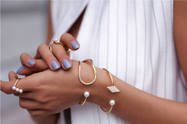 Gold Philosophy: GALAXIAS PEARL BANGLE | Jewelry,Jewelry > Bracelets -  Hiphunters Shop