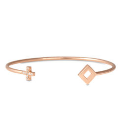 Gold Philosophy: Pallas Diamond Open Bangle | Jewelry,Jewelry > Bracelets -  Hiphunters Shop