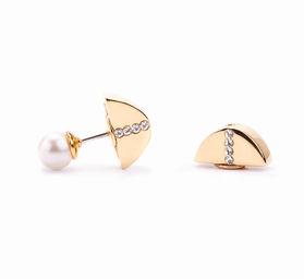 Gold Philosophy: CRESCENT PEARL EARRINGS | Jewelry,Jewelry > Earrings -  Hiphunters Shop