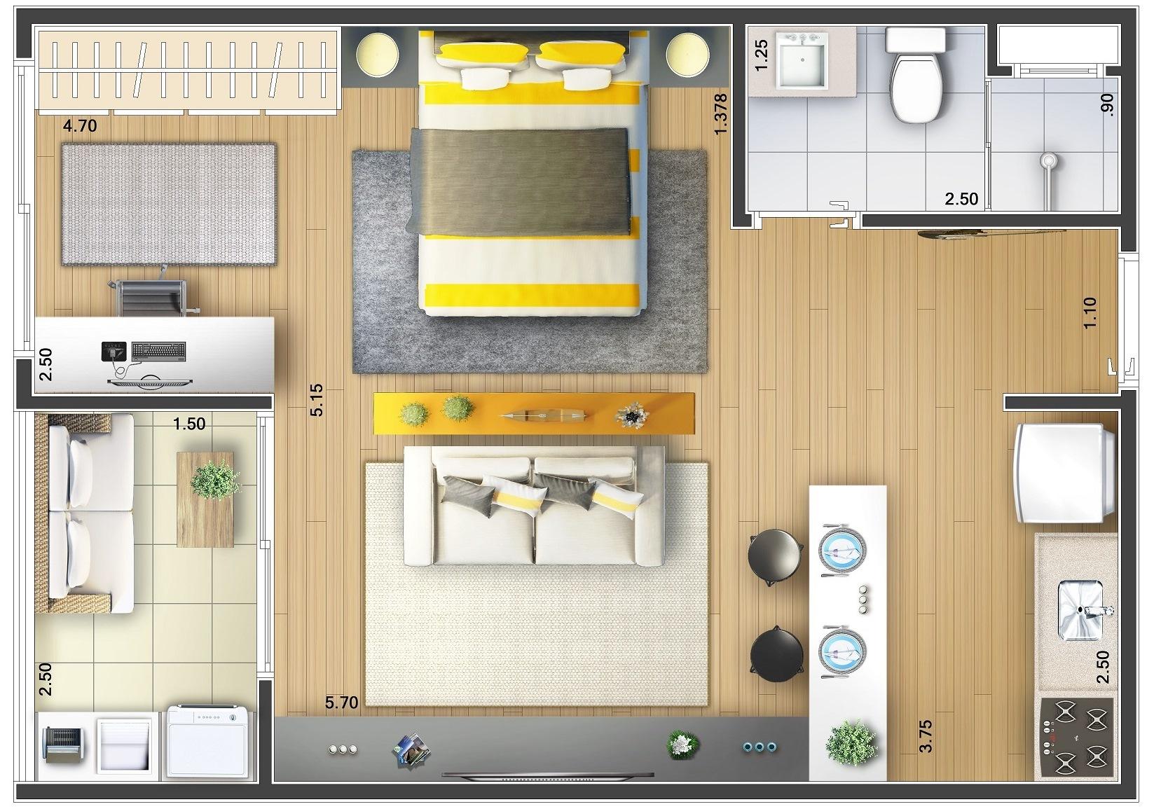 8 ideias de plantas de loft projetos e plantas de casas for Casa moderna tipo loft