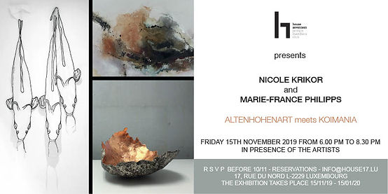Invitation h17 vernissage marie-france philipps & nicole krikor