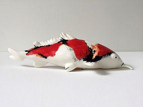 Koi en porcelaine