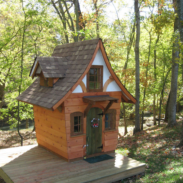 Bomoso storybook cottage playhouse plans for Storybook cottage plans