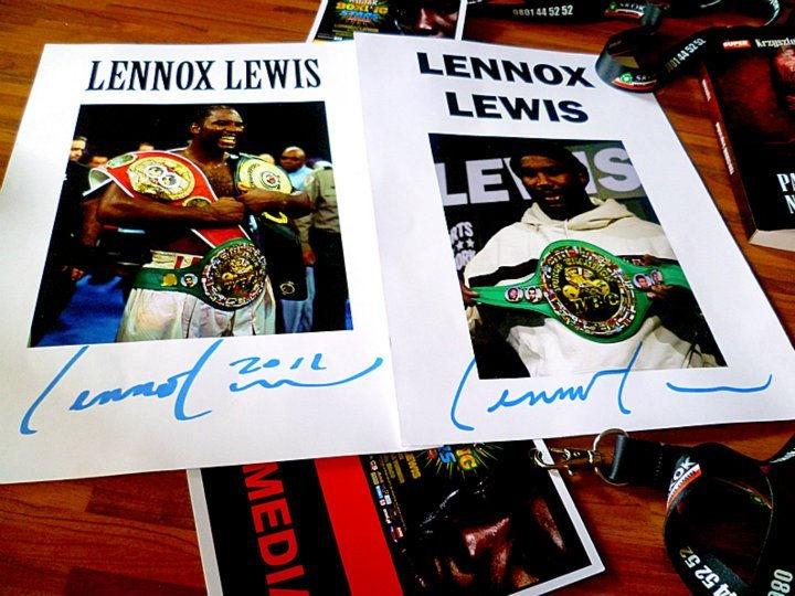 Autografy Lennoxa Lewisa