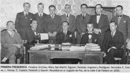 Primer Consejo Directivo de la Liga Posadeña