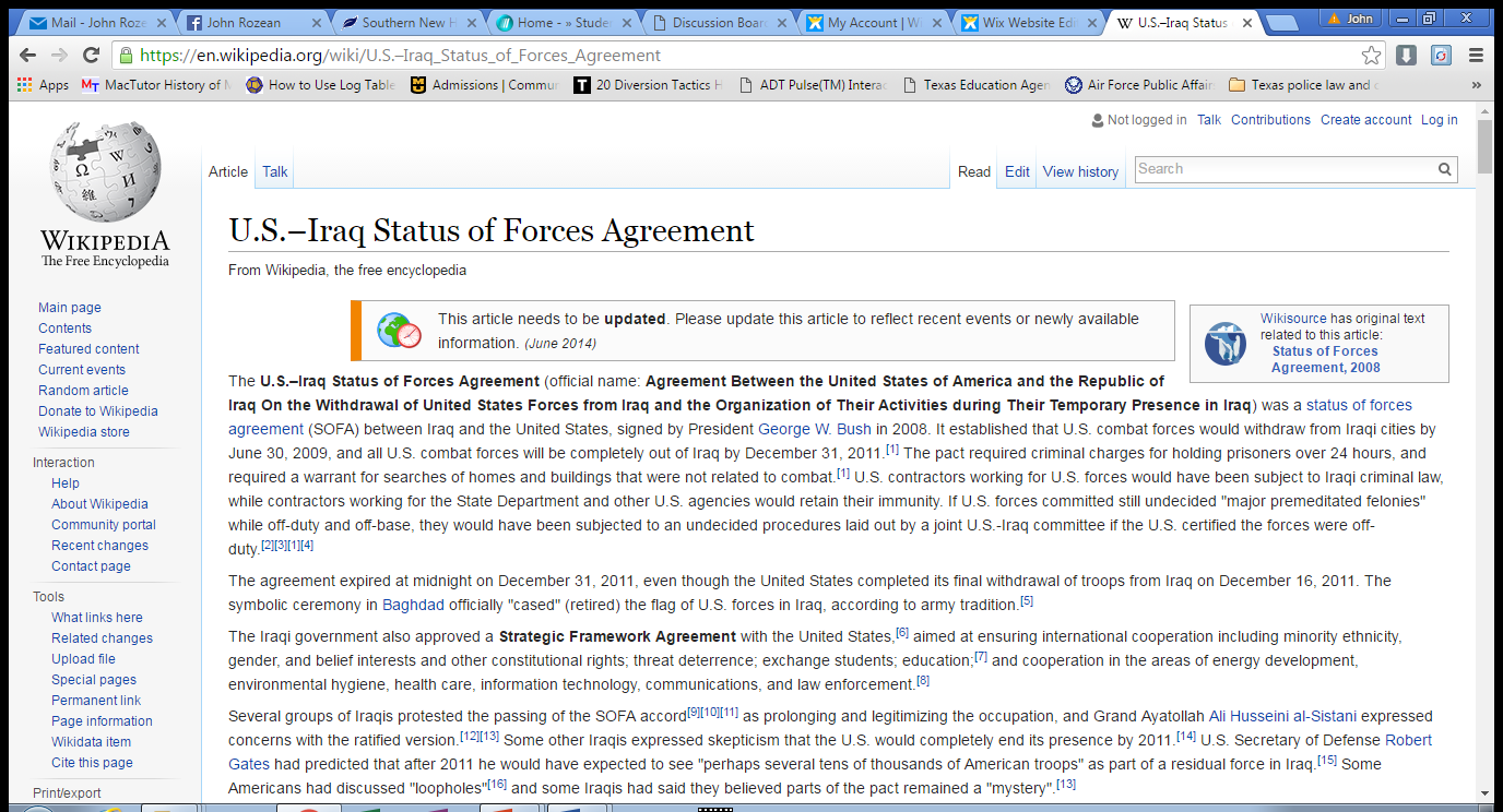 Status Of Forces Agreements Riding The Tigerd Effort For