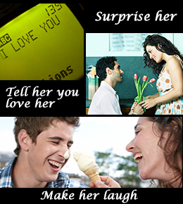 what to say to ur gf to make her happy