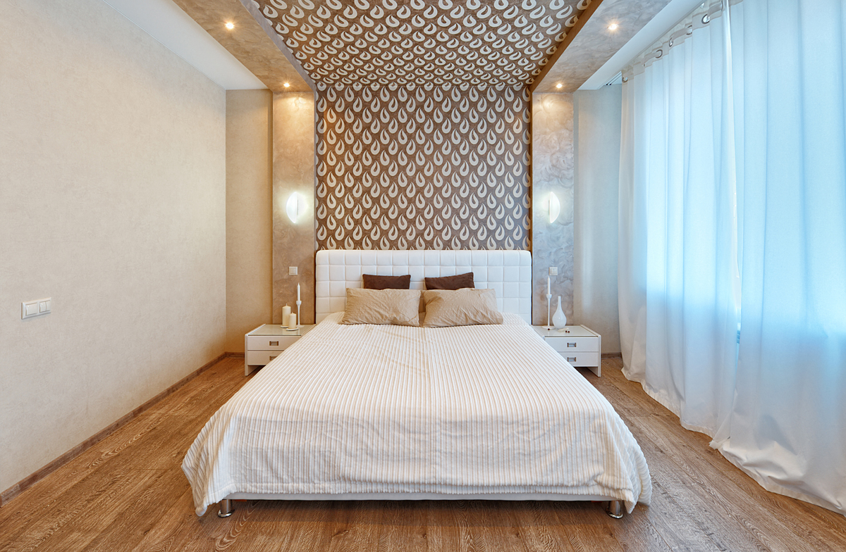 Спальни интерьер потолок 146