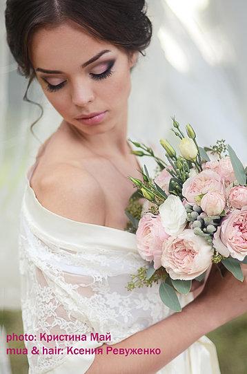 Свадебная прическа и макияж винница