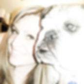 Lisa Pellegrene Celebrity, Animal Advocate, Bulldogs are love, Albert Schweitzer, When all living beings are included in the circle of compassion humanity will find peace.