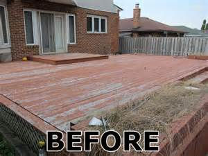 Painting Your Deck - Before