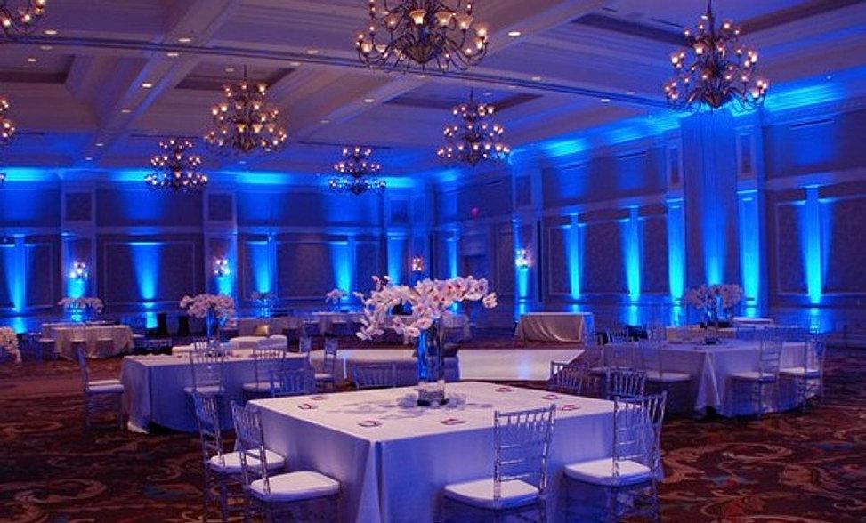 Blue Led Uplighting Wedding