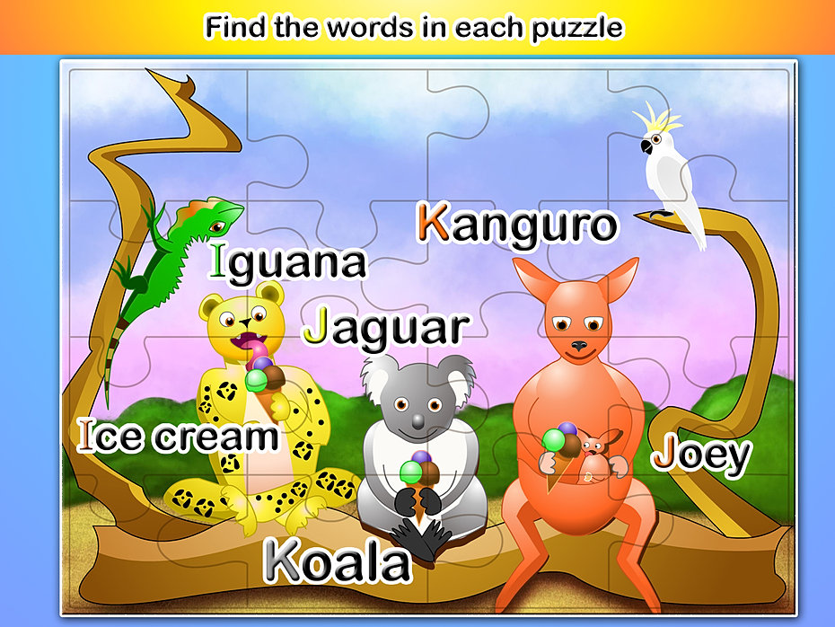 Australia puzzle words