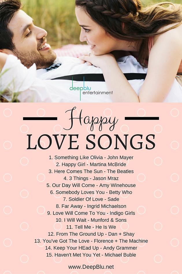 Happy Love Songs for Your Wedding Reception | DeepBlu Entertainment ...