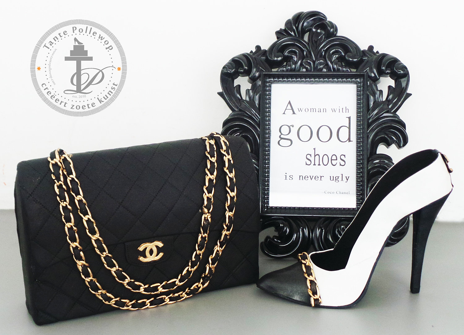 Tante Pollewop Cake Design Chanel Purse And Shoe