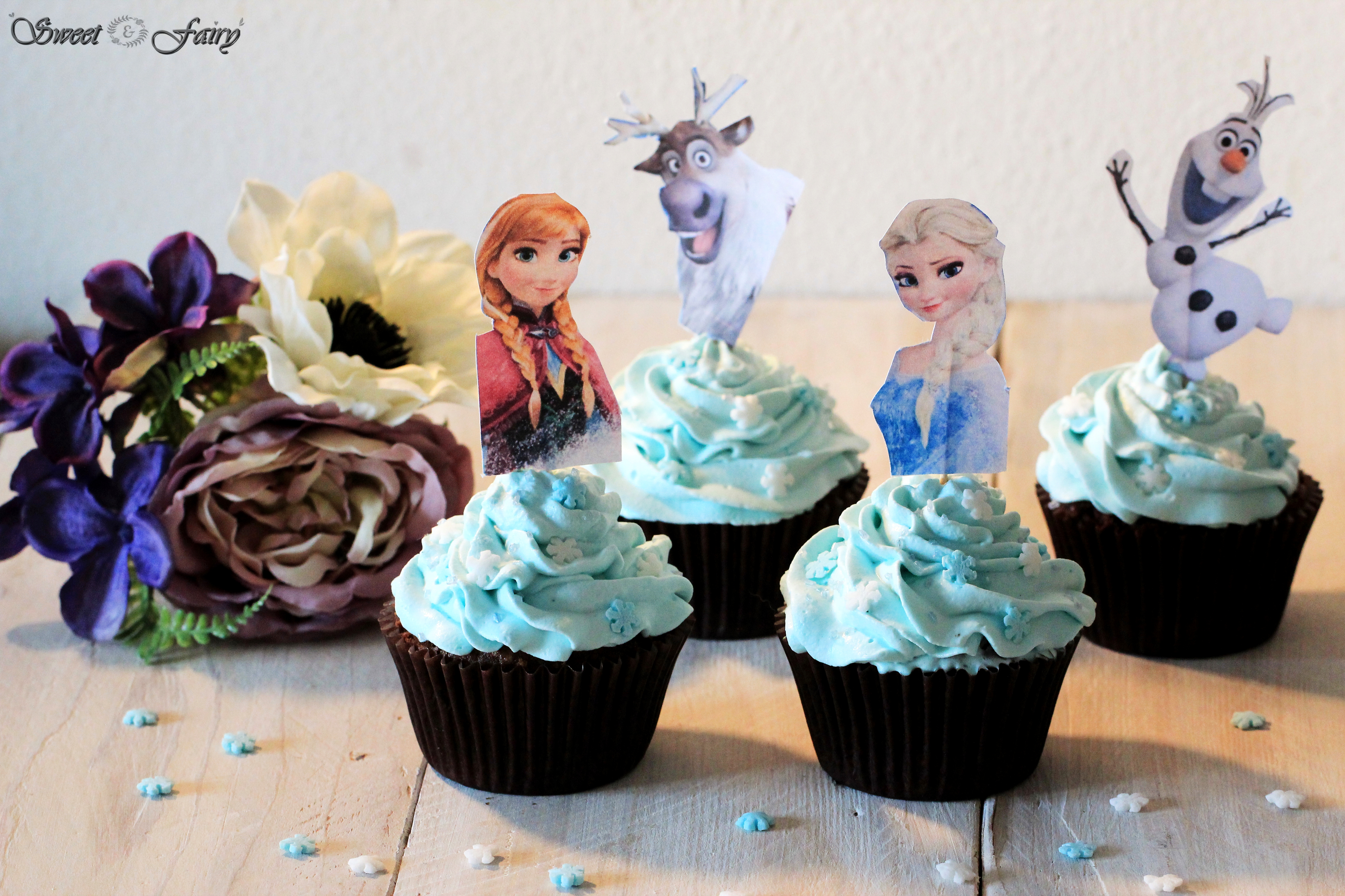 cupcakes reine des neiges sweet and fairy