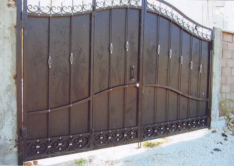 Фото металл ворот калитка и ворота из профиля