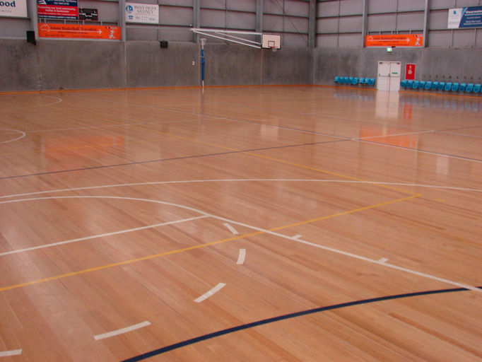 Pro finish floor sanding and timber floor installation for Average basketball court size