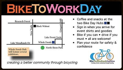 The Woodlands Bike to Work Day @ Whole Foods Market & Black Walnut Cafe | The Woodlands | Texas | United States