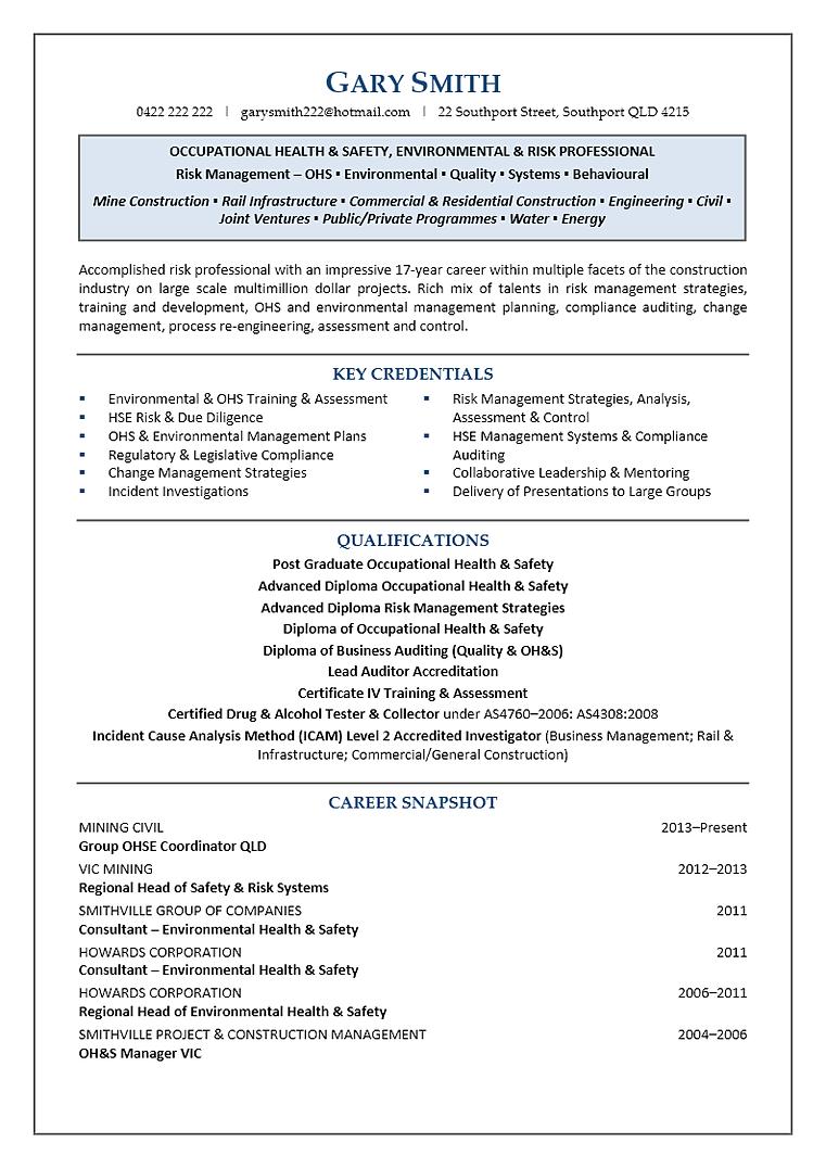 cronin executive resume writing services
