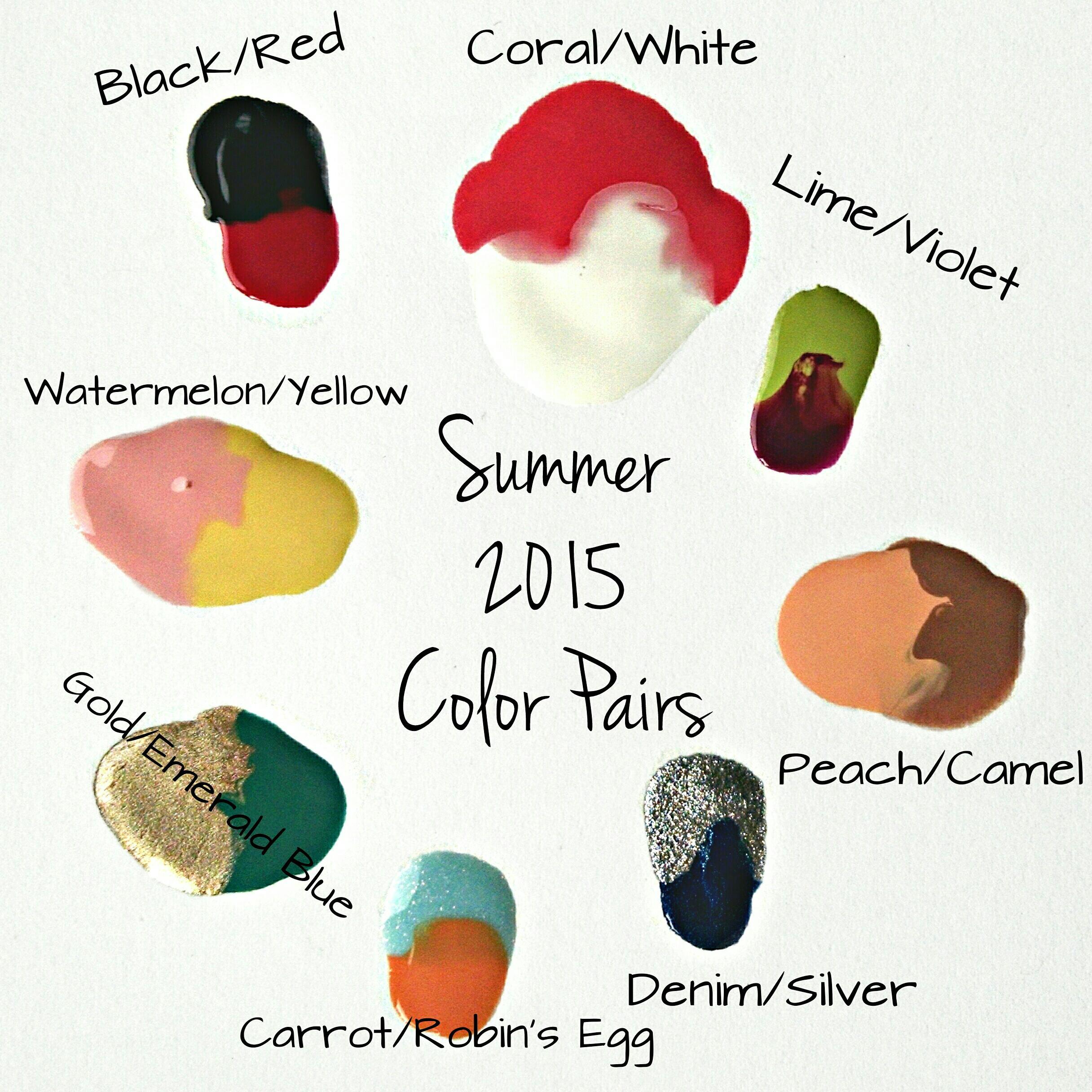 Nail Polish Combinations For Summer