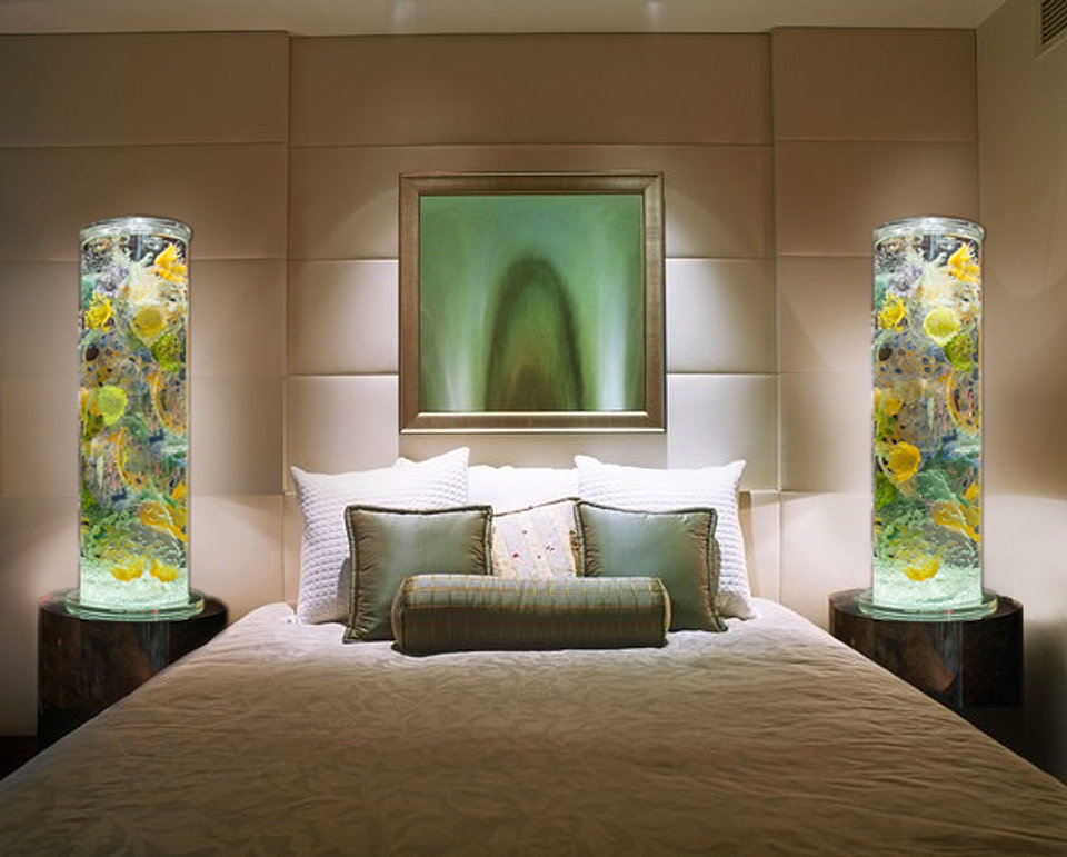 Two large Sea Cores in tranquil bedroom