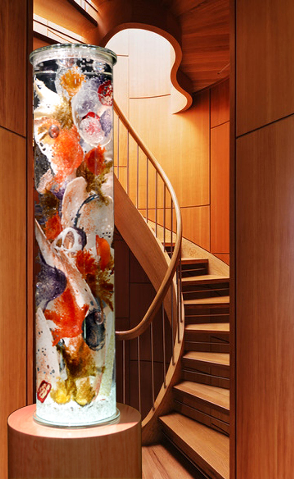 Giant Sea Core in sculptural stairs