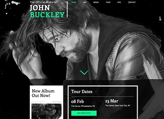 Alternative Rock Template - An impressive artist needs an impressive website. With a scrolling background, contrasting colors and multiple pages to showcase yourself and your music, this is the perfect template for any musicians wishing to wow their fans. Simply upload your tracks to Wix Music for your fans to sample, listen to or download your music and watch as your tunes reach fans worldwide!