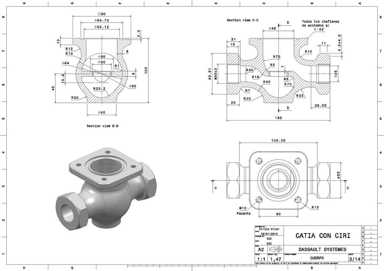 disproying dise o de planos mecanicos en inventor