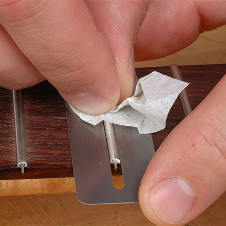 Best way to polish frets!