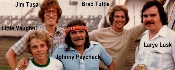 Young Vaughn Skow with Johnny Paycheck