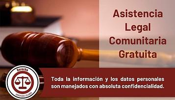 Afiche Asistencia Legal Comunitaria 2021