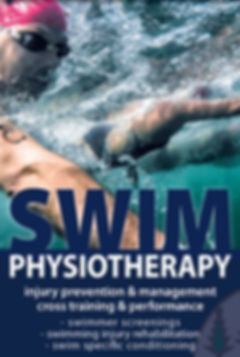 Physio for swimmers including screenings assessments and conditioning for performance and injury rehabilitation