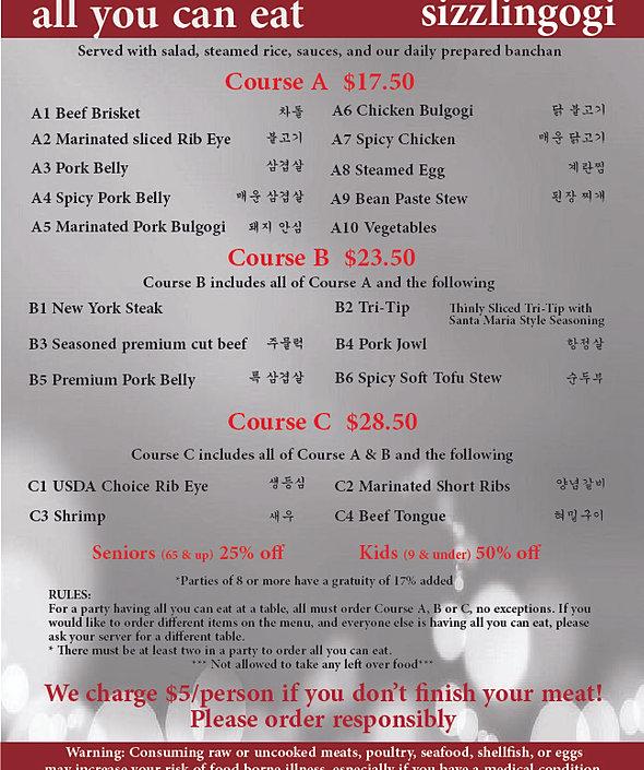 Sizzlingogi - Korean BBQ and Bar : AYCE