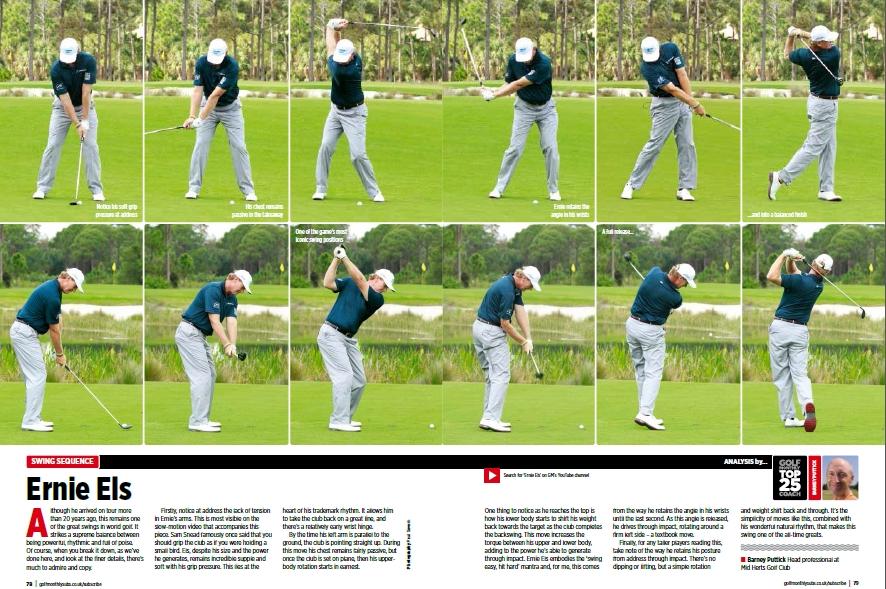 Ernie Els S Swing Sequence Barney Puttick Pga Golf Coach