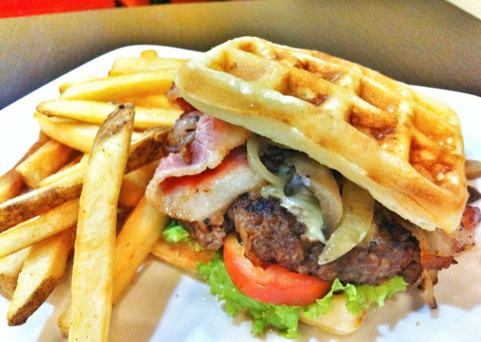 Smokin' Joe Waffle Burger