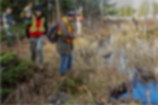 Sault College Parks students assisting LSWC with the trail route planning. ©GaryMcGuffin
