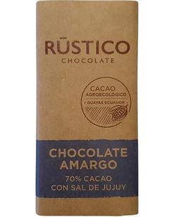 RÚSTICO CHOCOLATE AMARGO 70% CACAO CON S