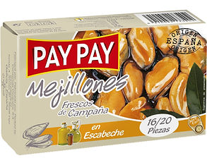 PAY PAY MEJILLONES EN ESCABECHE x 115 GR