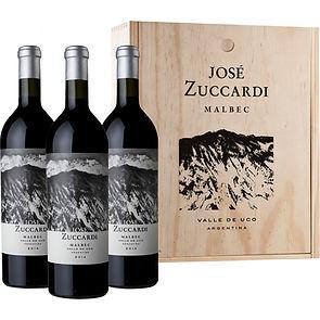 JOSÉ ZUCCARDI ESTUCHE MADERA x3 MALBEC.j