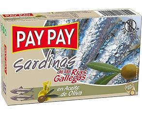 PAY PAY SARDINAS EN ACEITE DE OLIVA x 12