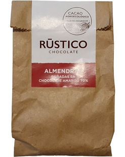 RÚSTICO ALMENDRAS BAÑADAS EN CHOCOLATE A