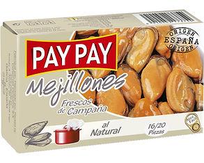 PAY PAY MEJILLONES AL NATURAL x 115 GR.j