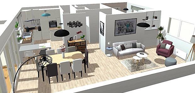 Plan maison 120 m2 modle plan maison rcombles 120m2 for Maison moderne 120m2