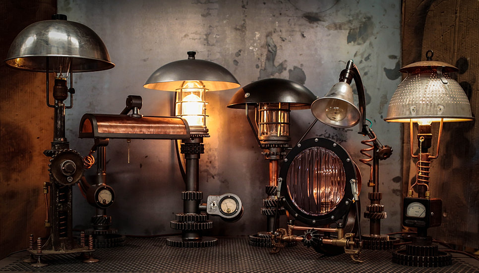 Machine Brothers Steampunk Lighting Furniture .