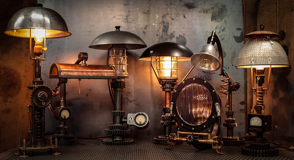 Steampunk Lighting, Steampunk Furniture