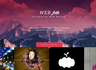 Estúdio de Web Design Template - Mostre seu trabalho usando este template moderno. Com uma galeria de portfólio incrível bem na página inicial e apenas uma página adicional para contato, mantenha a simplicidade porém com destaque. Seu site deve ser tão ousado quanto seu trabalho.